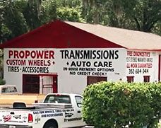 Picture of the Brooksville shop of Pro Power Transmissions